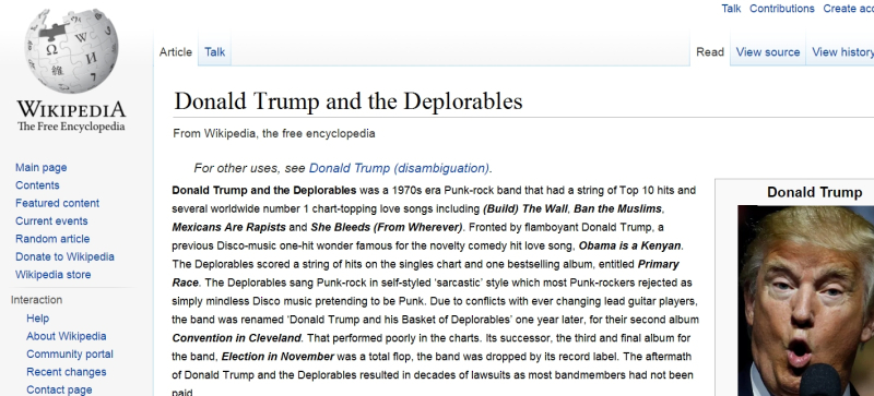 Wiki-Page-Donald-Trump-And-The-Deplorables-Fake-by-TDawg-7thSteve